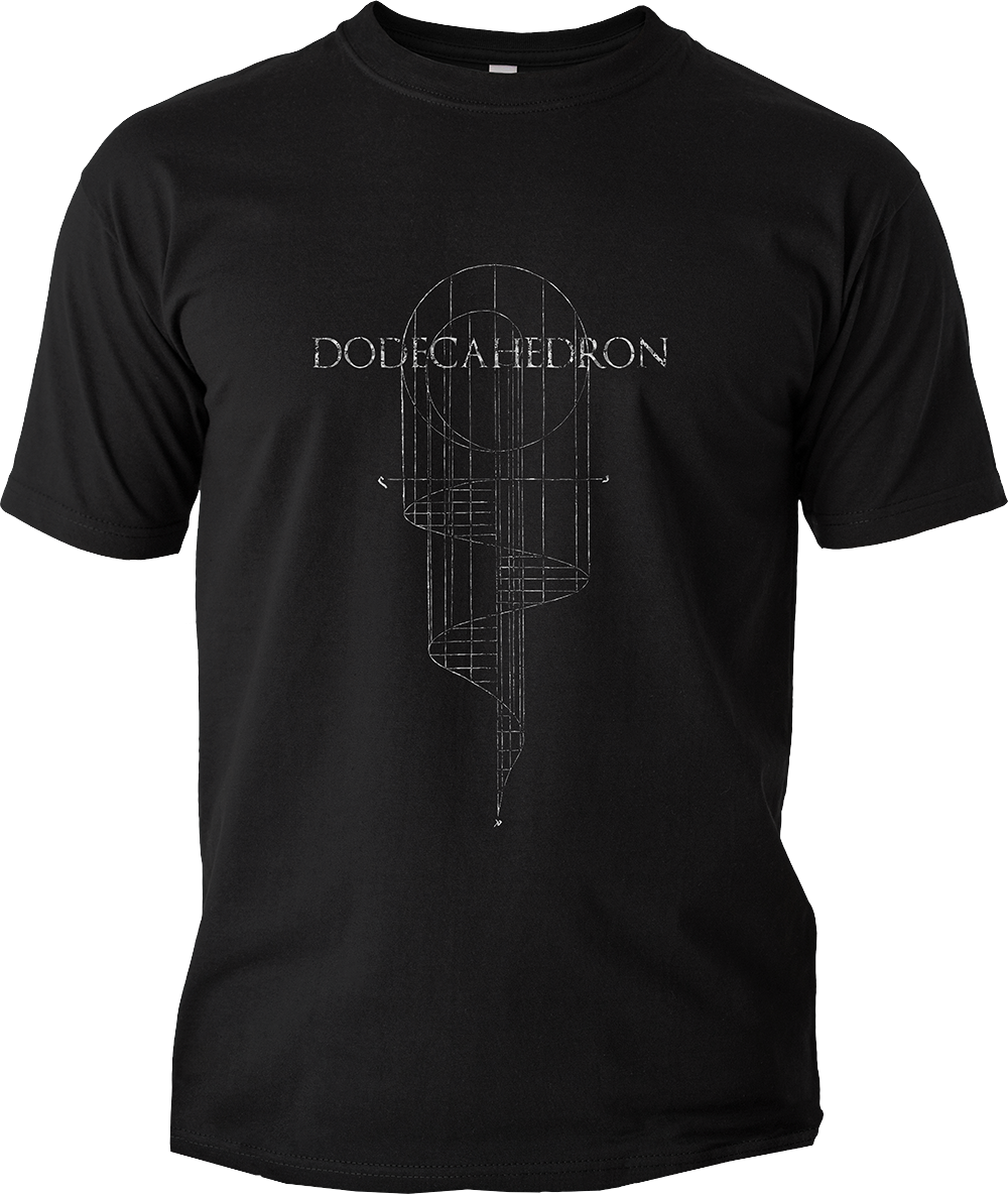 <b>'Ladder' T-Shirt:</b><br>- Fruit of the Loom Classic Valueweight<br>- Metallic silver print on black shirt<br>- No extra shipping costs!